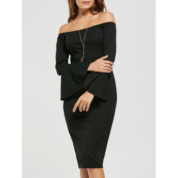 Off The Shoulder Bodycon Ruffle Dress
