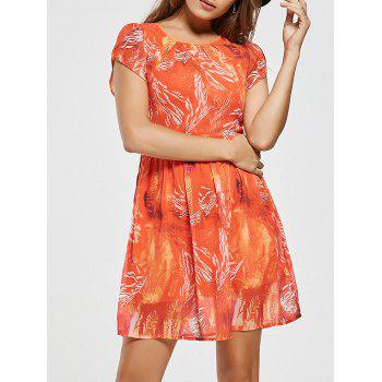 Printed Chiffon Mini A Line Dress