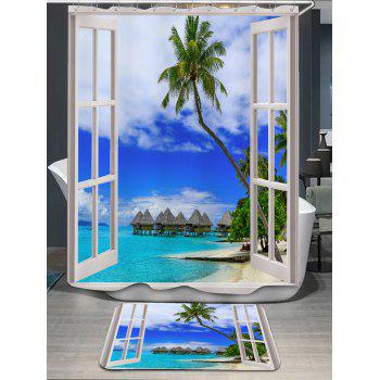 Window Scenery Shower Curtain and Rug