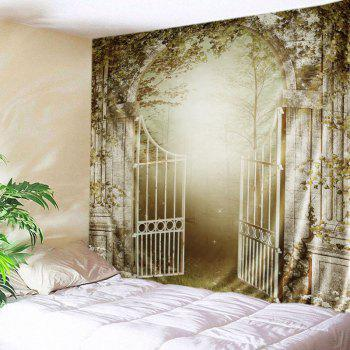 Wall Hanging Art Gate Forest Print Tapestry