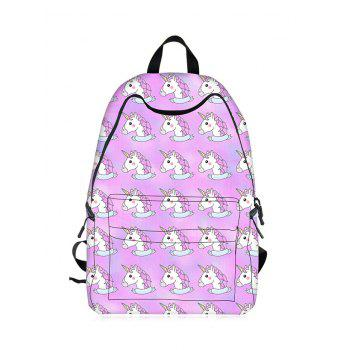 Cartoon Unicorn Printed Backpack