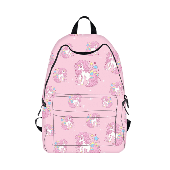 Cartoon Unicorn Printed Backpack - PINK