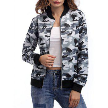 Zip Up Camouflage Jacket