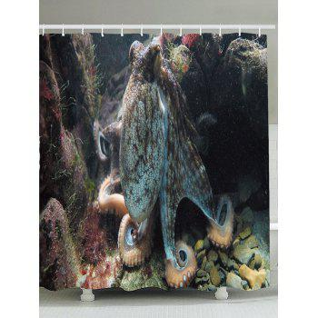 Waterproof Ocean Octopus Shower Curtain