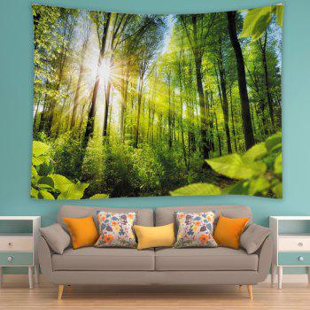 Sunshine Forest Print Tapestry Wall Hanging Art - Vert W79 INCH * L59 INCH