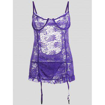 Lace Sheer Plus Size Slip Babydoll