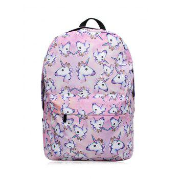 Cartoon Unicorn Print Backpack