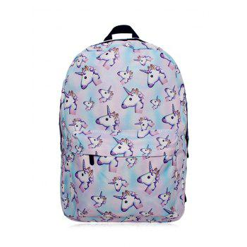 Sac à dos Cartoon Unicorn Print
