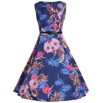 Print Knee Length Vintage Party Dress
