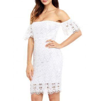 Sheath Off The Shoulder Lace Dress - S S