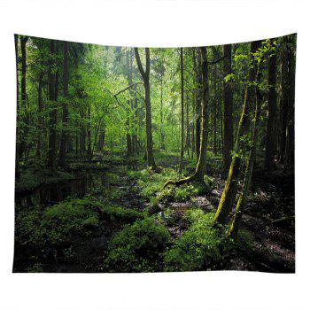 Forest Trees Print Tapestry Wall Hanging Art - GREEN W79 INCH * L71 INCH