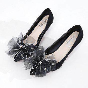 Pointe au pied de l'arc Accent Faux Suede Pumps - Noir 39