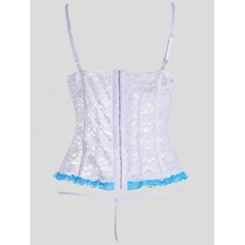 Plus Size Lace Padded Corset Top - WHITE WHITE