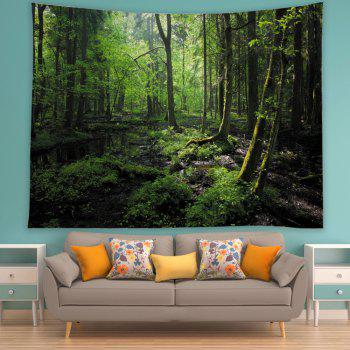 Forest Trees Print Tapestry Wall Hanging Art - GREEN W59 INCH * L51 INCH