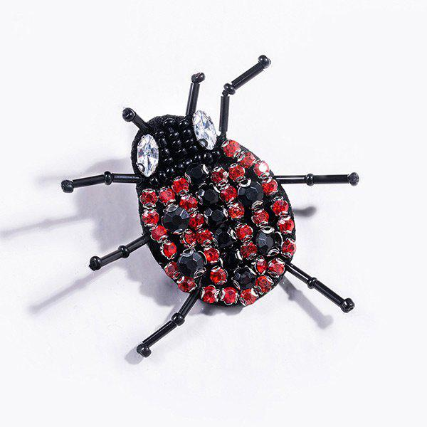 Rhinestone Funny Insect Brooch rhinestone spider web insect etched brooch
