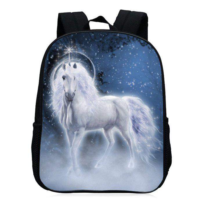 Unicorn Printed School Backpack - MIDNIGHT