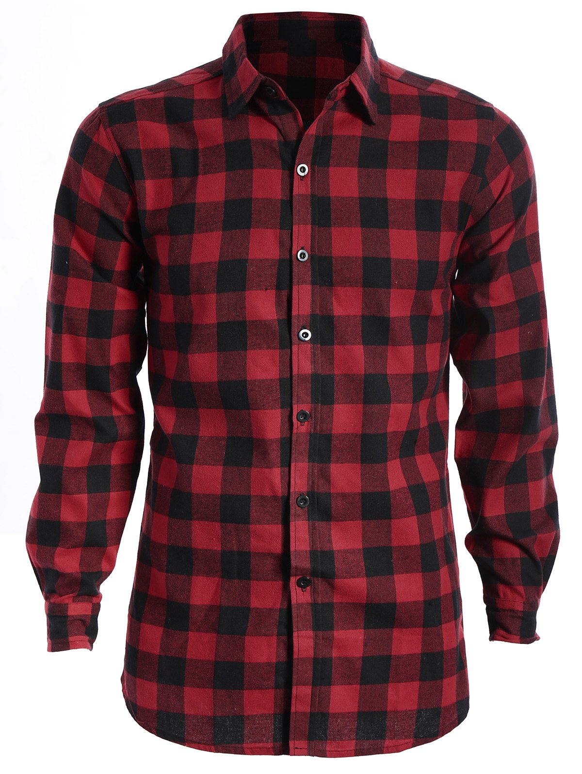 Checked Shirt For Man - RED/BLACK XL
