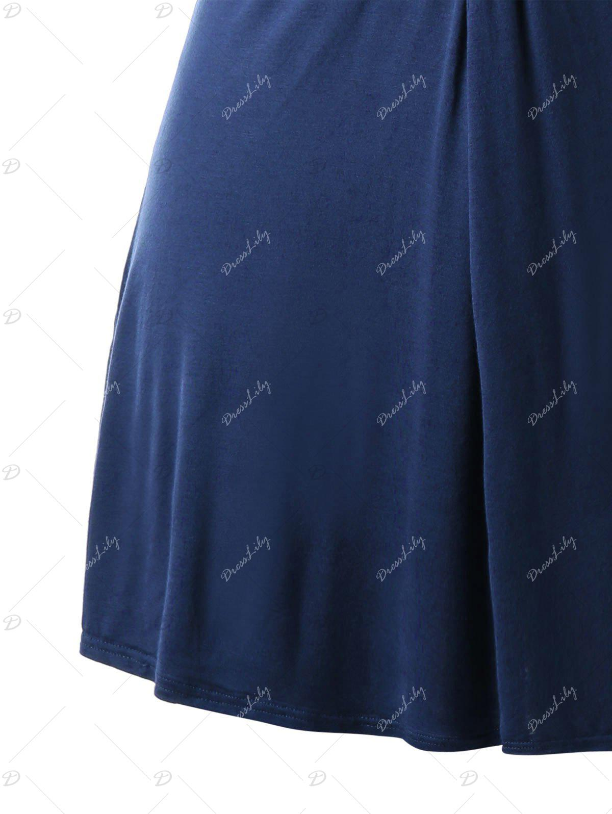 Top tunique avant Twist taille grand - Bleu Cadette 4XL