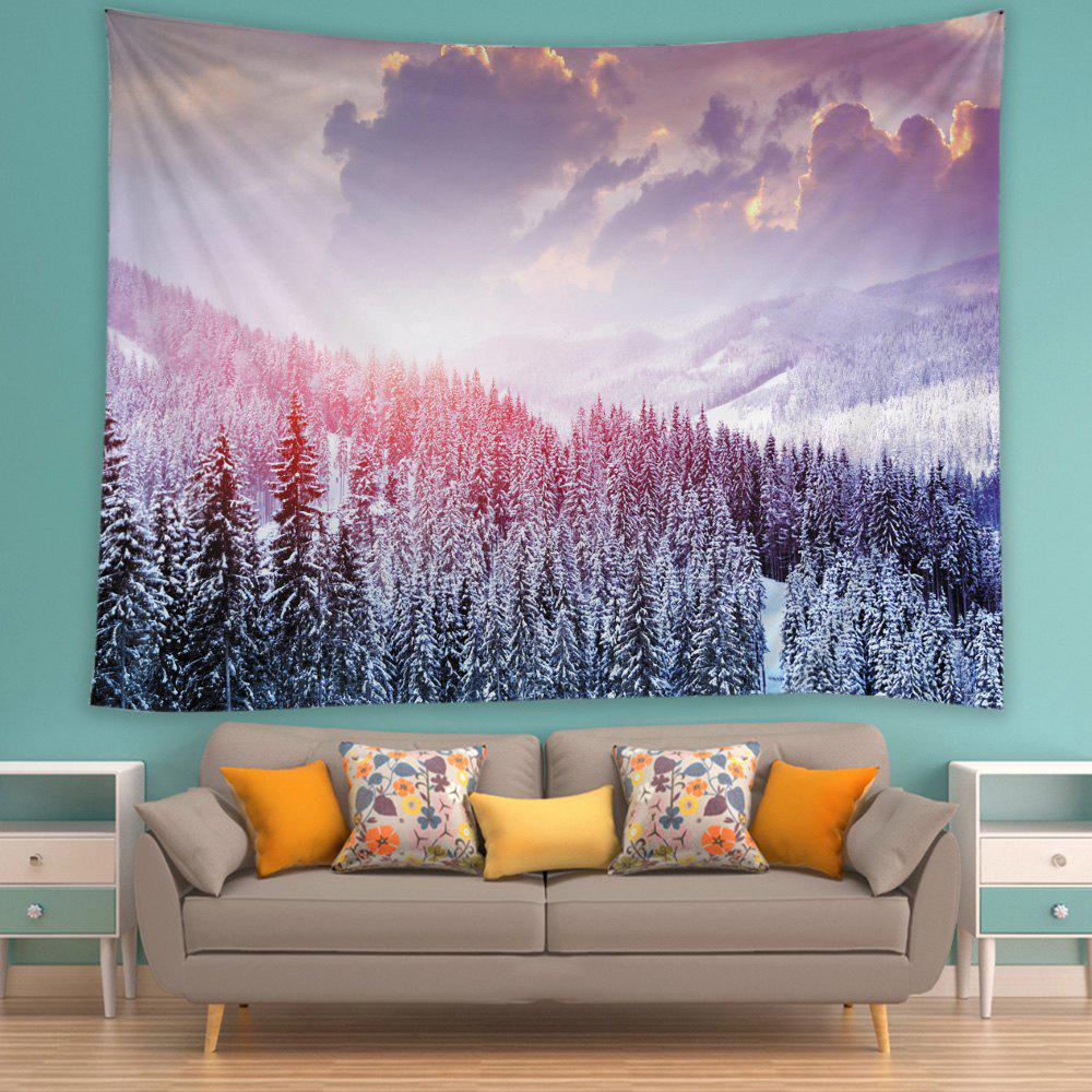 Mountain Snow Print Tapestry Wall Hanging Art - Blanc W79 INCH * L59 INCH