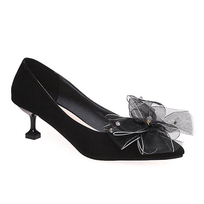 Pointe au pied de l'arc Accent Faux Suede Pumps - [