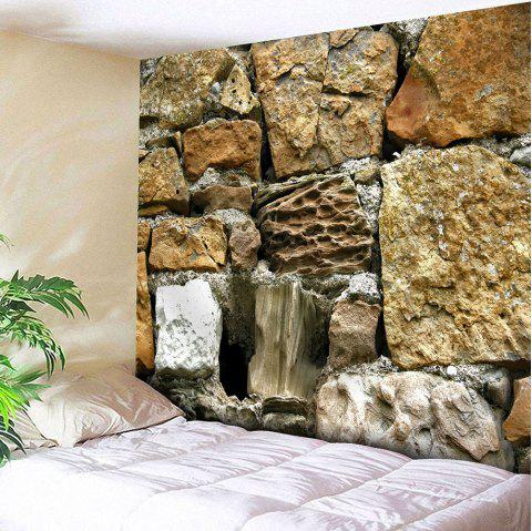 Waterproof Stone Print Velvet Wall Hanging Tapestry - LIGHT BROWN W59 INCH * L59 INCH