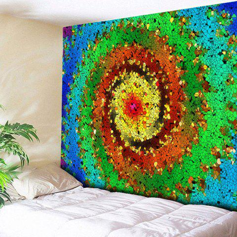 Wall Hanging Colorful Vortex Pattern Tapestry - COLORFUL W59 INCH * L51 INCH