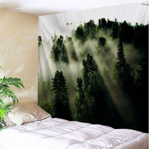 Mystic Forest Hanging Blanket Wall Art Tapestry - DEEP GREEN W71 INCH * L91 INCH