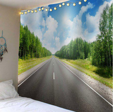 Home Decor Railway Forest Waterproof Wall Tapestry - GREEN W59 INCH * L51 INCH