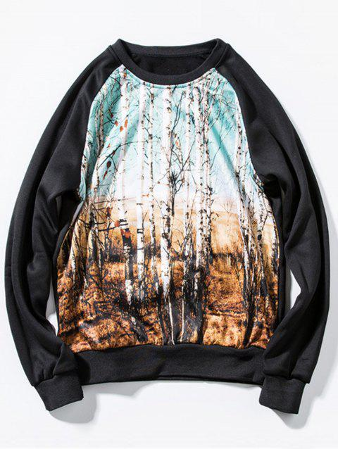 Tropical Forests Pullover Sweatshirt - BLACK 2XL