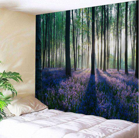 Forest Floral Print Tapestry Wall Hanging Art - COLORMIX W59 INCH * L59 INCH
