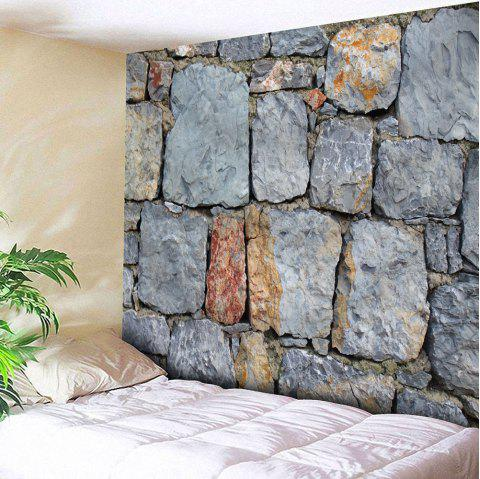 Architectural Stone Waterproof Wall Tapestry - GRAY W79 INCH * L59 INCH
