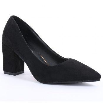 Block Heel Pointy Pumps