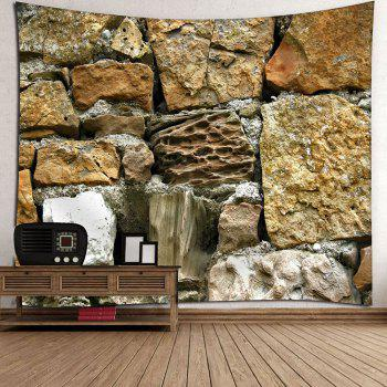 Waterproof Stone Print Velvet Wall Hanging Tapestry - LIGHT BROWN W79 INCH * L59 INCH