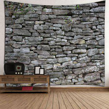 Stone Print Waterproof Wall Decor Tapestry - GRAY W79 INCH * L59 INCH