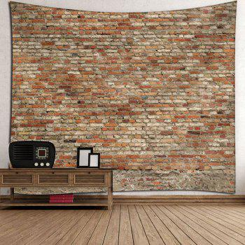 Waterproof Bricks Wall Hanging Tapestry - BROWN W79 INCH * L59 INCH