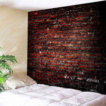 Waterproof Wall Hanging Art Decor Brick Print Tapestry - BROWN W79 INCH * L59 INCH