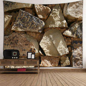 Big Stone Print Waterproof Wall Tapestry - GRAY W59 INCH * L59 INCH