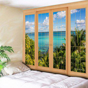 Window Scenery Tapestry Printed Wall Hanging - COLORMIX COLORMIX