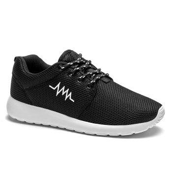 Embroidery Line Breathable Athletic Shoes