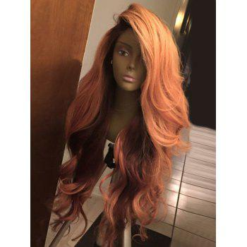 Deep Side Part Shaggy Layered Long Wavy Synthetic Wig