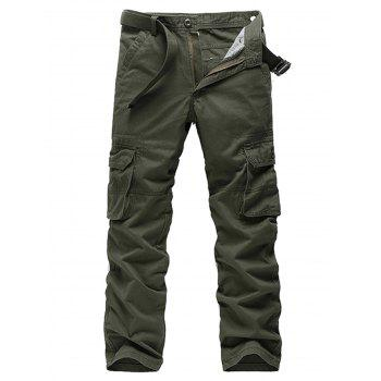 Zipper Fly Straight Leg Pockets Cargo Pants