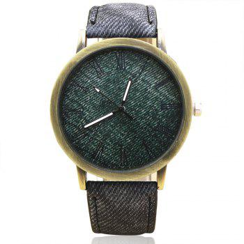 Roman Numeral Faux Leather Strap Analog Watch