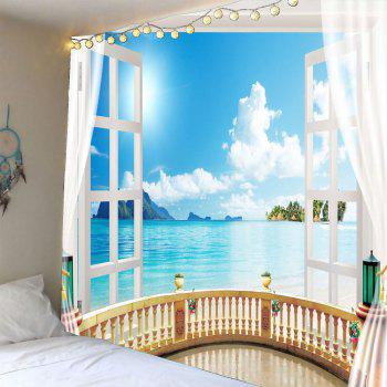 Window Seascape Wall Decor Waterproof Tapestry