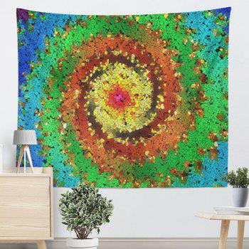 Wall Hanging Colorful Vortex Pattern Tapestry - COLORFUL W79 INCH * L59 INCH