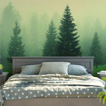 Fog Forest Printed Wall Hanging Tapestry - GREEN W79 INCH * L59 INCH
