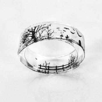 Tree of Life Bat Resin Transparent Ring - TRANSPARENT TRANSPARENT