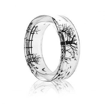 Tree of Life Bat Resin Transparent Ring - 7 7