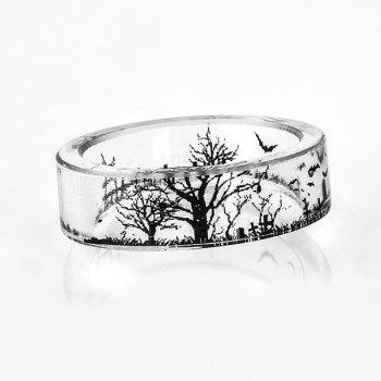 Tree of Life Bat Resin Transparent Ring