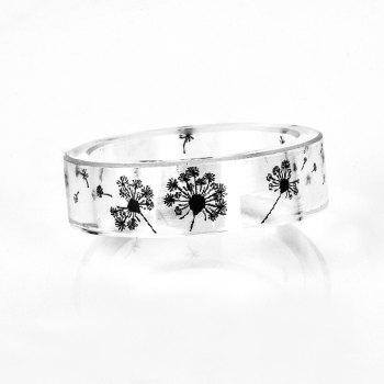 Transparent Dandelion Resin Ring - TRANSPARENT 9