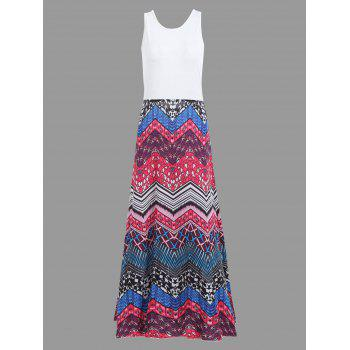 Boho Crisscross Printed A Line Floor Length Dress